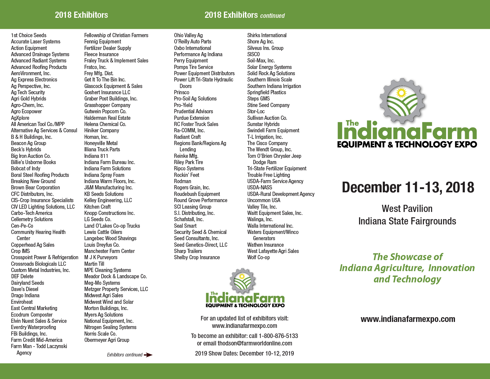 IFS EXHIBITORS 111218