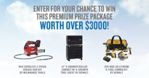 Enter for your chance to win this premium prize package worth over $3,000! 2019 American Family Insurance Power Tool Prize Package Sweepstakes